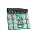 1600W server strømkonverteringsmodul med 12 6pins stik Grafikkort strømforsyningskort til BTC Mining Bitcoin Mine
