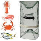 ZANLURE 22x45cm Folding Fishing Net Shrimp Crayfish Lobster Prawn Bait Mesh Trap