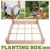 Belham Living 4 x 8 ft. Raised Garden Bed with Grow Grid Planting Grow Box