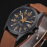 XINEW Nylon Band Casual Style Quartz Watch Date Display Men Wrist Watch