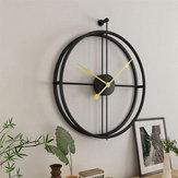 Art Hanging Reloj vendimia Creative Round Metal Iron Home Office Wall Christmas Decoration