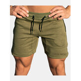 Herrenmode Kordelzug Slim Fit Solid Color Casual Shorts