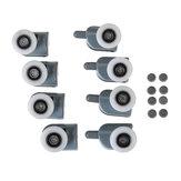8PCS 25mm Sostituzione delle pulegge dei rulli dei portelli della doccia superiore e inferiore
