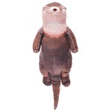 Creative Otter Plush Toy Wrist Pad Pen Pencils Holder Pencil Case Bag