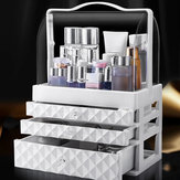 1/2/3 Layers Dustproof Earrings Jewelry Cosmetic Storage Box Desktop Organizer Display Stand Rack Tray