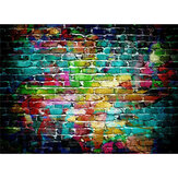 Colorful Brick Wall Photography Backdrop for Photography Photo Studio Background