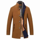 Áo khoác lông mùa đông giản dị có thể tháo rời
