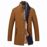 Winter Beiläufiger Mantel Schal Abnehmbare Stilvolle Wollmantel
