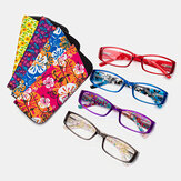 Mulheres Homens Unisex Multi-colored Square Frame Reading Óculos