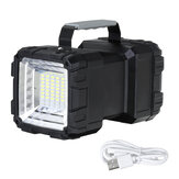 40W/60W Bright Camping Light Double Heads USB Rechargeable Worklight Outdoor Flashlight Light Searchlight