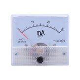 85C1 DC mA Amperímetro 0-10MA 30MA 50MA 100MA Analógico Atual Medidor de painel Amperímetro