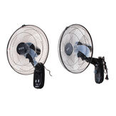 "Original 220V 16"" Oscillating Wall Mounted Fan Home Cooling Fan Timer 3 Gears Adjustable"