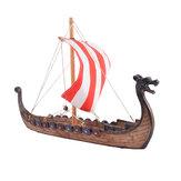 Vikings retro Dragão Modelo de Barco Esculpido À Mão Navio Home Office Desk Decorações Presente