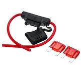 Wodoodporny uchwyt bezpiecznika samochodowego Inline Blade Premium Maxi Type 8AWG + 2 x 50 AMP Bezpieczniki