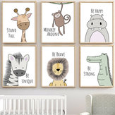 Cute Animal Home Decorations Room Canvas Print Picture Wall Art Painting Xmas Gift
