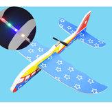 EPP eléctrico de mano lanzando espuma de avión rotativo modelo de avión de juguete de avión con luz LED