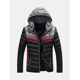 Mens Casual Winter Stitching Warm Down Coat