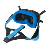 WLYL Lycra Eleastic Head Strap compatível com a pele para DJI Digital HD FPV Goggles Video Headset Banda Verde / cinza / azul