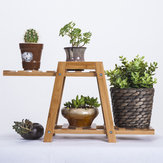 Bamboo Wooden Plant Stand Indoor Outdoor Garden Planter Flower Pot Shelf