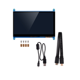 7 Inch Full View LCD IPS Touchscreen 1024 * 600 800 * 480 HD HDMI Beeldschermmonitor voor Raspberry Pi