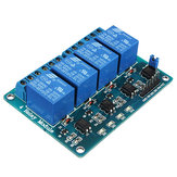 5pcs 5V 4 Channel Relay Module PIC ARM DSP AVR MSP430 Blue Geekcreit for Arduino - products that work with official Arduino boards