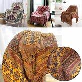 Mantas de punto de algodón tirar Tribal étnico bohemio sofá ropa de cama decoración del hogar