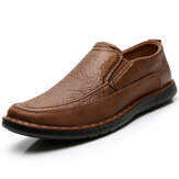 Men Slip Resistant Soft Slip On Elastic Band Causal Oxfords