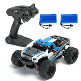 2 Baterías Versión HS 18301/18302 1/18 2.4G 4WD Big Foot RC Coche Off-Road Vehicle RTR Toys