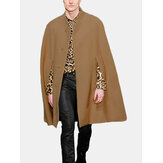 Herre New Mid Long Cloak Han Style Batwing Collar Fur Coats