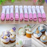 10Pcs Plastic Cake Fondant Embossed Crimpers Mold Baking Mold Utensil Decorating Tool