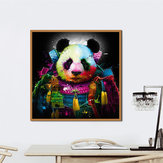 Miico Hand Painted Oil Paintings Animal Panda Paintings Wall Art For Home Decoration