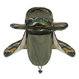 AOTU Camouflage Fishing Hat Adjustable Anti UV Anti Mosquito Mesh Mask Camping Hunting Neck Cover Protection Cap