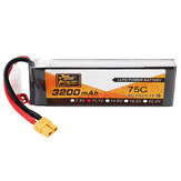 ZOP Power 11.1V 3200mAh 75C 3S Lipo Battery XT60 Plug for RC Helicopter Car Airplane
