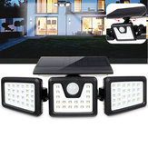 70 LED Solar Light Motion Sensor Wall Light Rotatable Outdoor Yard Garden Lamp
