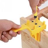 Gabarito de Cavilhas de Mão ABS Gabarito de Carpintaria de Plástico Gabarito de Buraco de Bolso para Ferramentas de Guia de Perfuração de Juntas de Cavilha de 6 a 10mm Carpintaria braçadeira