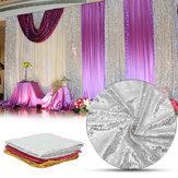 300x130cm Sparkle Sequin Table Cloth Curtain For Valentine's Day Weeding Decorations
