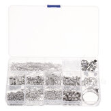 990Pcs/Set Eye Pins Lobster Clasps Jewelry Wire Earring Hooks Jewelry Finding Kit for DIY Necklace Jewelry Bracelet Making