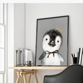 Miico dipinti a mano Olio dipinti Cartoon Penguin Paintings Wall Art per la decorazione domestica