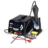 YIHUA 853D 5A II 3 in 1 920W SMD Soldering Station USB DC Power Supply Hot Air G un BGA Rework Station Solder Iron Welding Tool