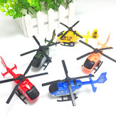 Simulation Mini Pullback Plastic Helicopter Decoration Diecast Model Toys