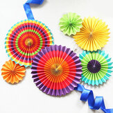 Eid Ramadan Vibrant Decor Colourful Fan Out Display Lantern Colour Decorations