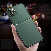 Bakeey Manyetik kaymaz Deri Doku TPU Darbeye Koruyucu Kılıf için iPhone 11 Pro Max 6.5 inç