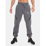 Men's Fitness Running Stitching Color Casual Sports Pants
