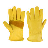 Heavy Duty Leather Gardening Work Outdoor Gloves