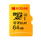 KODAK Micro SD Memory TF Flash Card 64GB 128 GB U3 A1 V30 Micro SDHC Card SDXC Card for Video and Mobile Storage