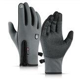 Zimowe ciepłe rękawiczki termiczne Antypoślizgowy rowerowy ekran dotykowy Wiatroodporna wodoodporna rękawica rowerowa