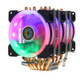 CPU Cooler 6 Heatpipe 4 Pin RGB Cooling Fan til Intel 775/1150/1151/1155/1156/1366 AMD