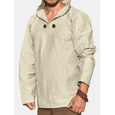 Einfarbiges Overhead-Sweatshirt mit Kapuze für Herren