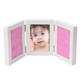 5 Inch Creative 3 Colors Clay Handprint Footprint Keepsake Photo Wall Mount Frame