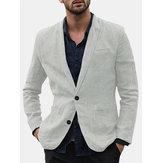 Chaqueta de trajes individuales de estilo casual de lino para hombre